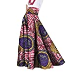 SportsX Women African Print Long Big Pendulum Dashiki Classic Party Skirt 2 M