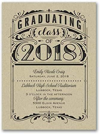 1150pk Poster Grad - Invitation - Kraft-Invitations