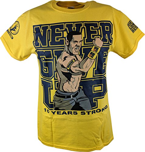 John Cena Yellow Ten Years Strong Kids T-Shirt Boys-YS by Hybrid Tees