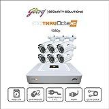 Godrej Octra HD 1080p SEHCCTV1500-6B 1.3MP 8-Channel DVR with 6 Bullet Cameras (White)