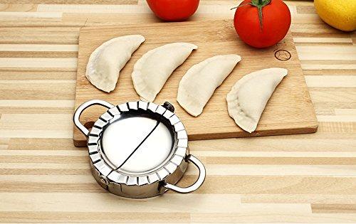 L-4.7 Rocaware Stainless Steel Dumpling Calzone Ravioli Empanada Turnover Pierogi Maker Mold,Pastry Dough Press