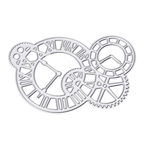 Metal Cutting Dies Time Gear Paper Cutting Dies Stencil Frame Metal Template DIY Card