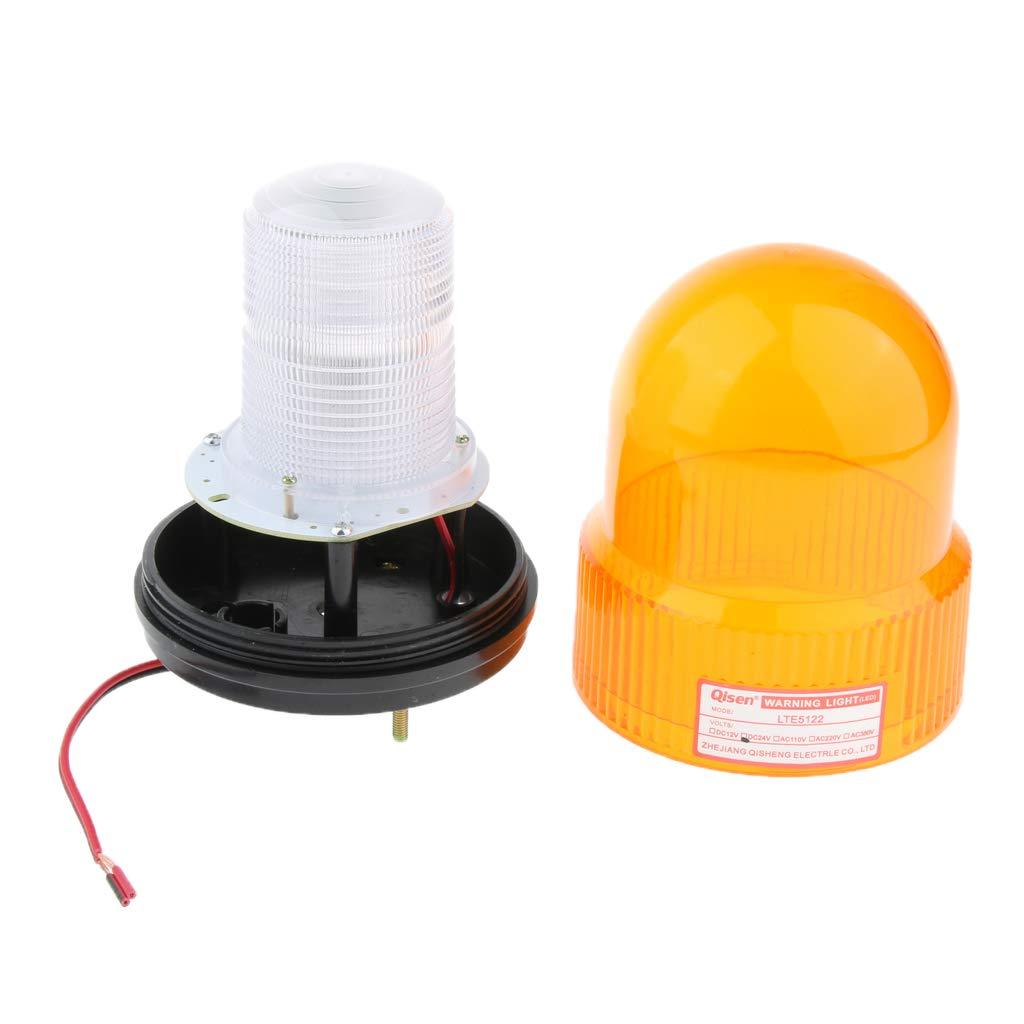 kesoto 24V Flash Stroboscopic Light Road Emergency Signal Beacon Security Yellow