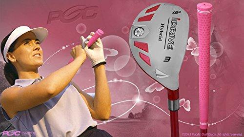 "Senior Ladies iDrive Pink Golf Club #3 Hybrid 55+ Years Womens Right Handed New Rescue Utility ""Senior"" Flex Club -"