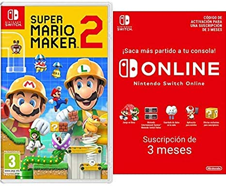 Super Mario Maker 2 [Nintendo Switch] + Switch Online 12 Meses Familiar [Codice Download]: Amazon.es: Videojuegos