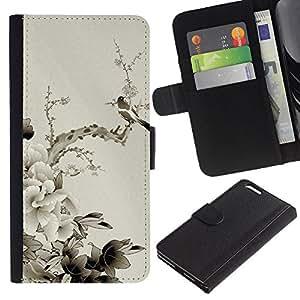 Ihec-Tech / Flip PU Cuero Cover Case para Apple Iphone 6 PLUS 5.5 - Chinese style peony