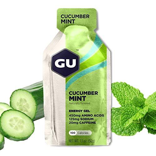 GU Energy Original Sports Nutrition Energy Gel, Cucumber Mint, (Cucumber Mint)