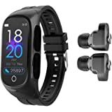 W@nyou Smart Watch with Bluetooth Earbuds, 2 in 1 Activity Bracelet Wireless Stereo Earphones with TWS Sleep Fitness Tracker,