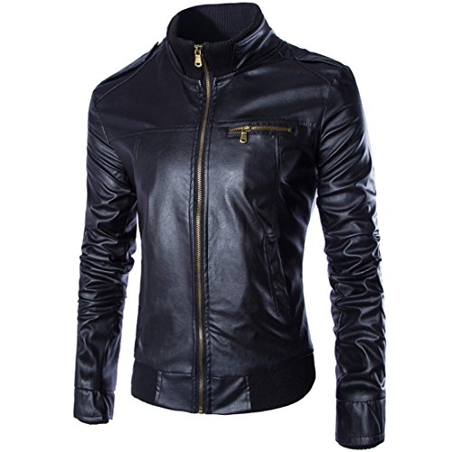 Buy dress leather jacket mens - 5