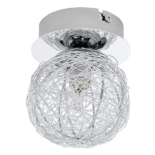 Eglo PRODO Interior G9 33W Aluminio, Cromo iluminación de techo – Lámpara (Dormitorio, Salón comedor, Salón, Aluminio…