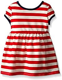 Baby Girls' Red and White Striped Knit Dress