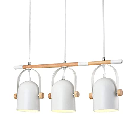 Lámpara colgante vintage mesa de comedor 3-luces blanco ...