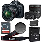 Canon EOS 5D Mark IV 30.4 MP CMOS Digital SLR Camera with 3.2-Inch LCD with EF 24-70mm f/4L IS USM Lens and EF 50mm f/1.8 STM Lens - Wi-Fi Enabled (Certified Refurbished)