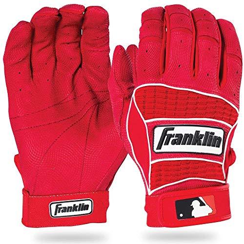 Franklin Sports MLB Adult Neo Classic II Series Batting Gloves, Red, Medium ()