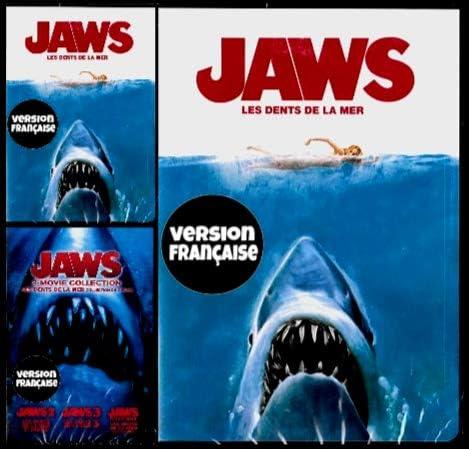 Jaws 1 1975 Jaws 2 1978 Jaws 3 1983 Jaws 4 1987 4 Films English French Les Dents De La Mer Collection Widescreen Regie Au Quebec Cover Bilingue Amazon Ca Roy