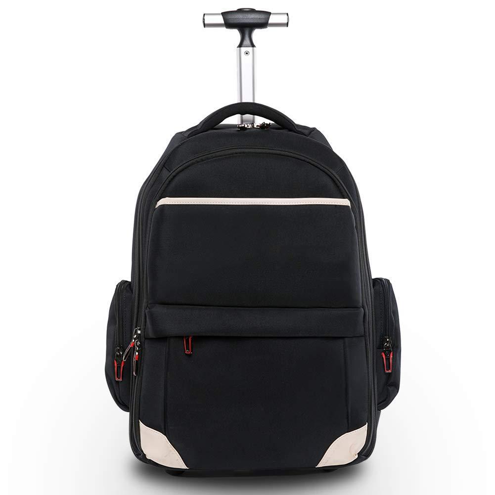 ノートパソコンのバックパック、カジュアルビジネス防水ホイールバックパック、ボーイガール大容量ハイキングバックパック(33 * 48 * 20 cm),A B07T92G8SG A