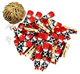 [Soldier] 50 Pcs Cute Wooden Photo Clips Craft Photo Paper Pegs Clothespins