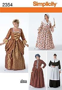 Simplicity GG 2354 - Patrones de costura para disfraces de época para mujer (tallas 54 a 60)