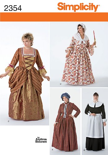 [Simplicity Sewing Pattern 2354 Plus Size Costumes, GG (26W-28W-30W-32W)] (27 Dresses Costumes)
