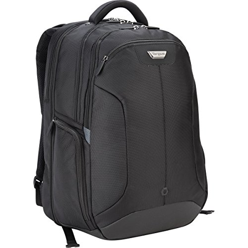 Targus Corporate Traveler Checkpoint-Friendly Professional Business Laptop Backpack with Protective Sleeve for 16-Inch Laptop, Black (CUCT02B)