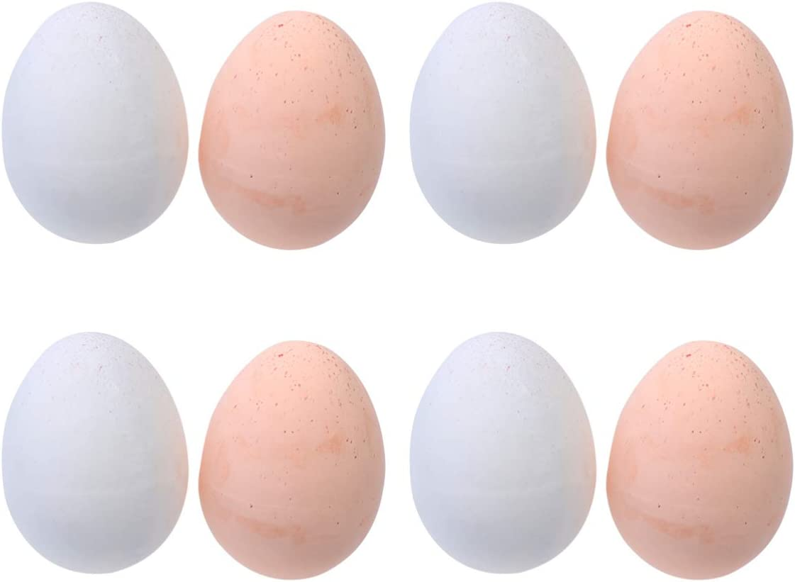 SUPVOX 10pcs Artificial Eggs Fake Chicken Eggs Lifelike Fake DIY Painting Egg Pretend Play Egg Educational Model Toys Artificial Kitchen Foods for Kids Student Children