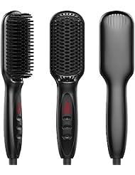 Enhanced Hair Straightener Brush Digital Hot Air Brush...