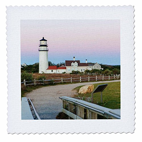 3dRose Danita Delimont - Lighthouses - Highland Light in the Cape Cod National Seashore. Truro, Massachusetts - 20x20 inch quilt square - Light Highland Cape Cod