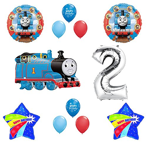 - Thomas the Tank Engine Train 2nd Happy Birthday Balloon Set