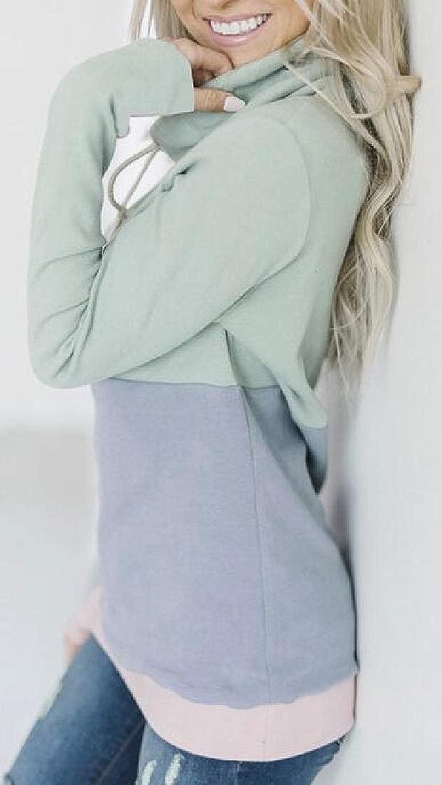 Amazon.com: Moda Mujer Sudadera 1/4 Zip Fleece Pullover Stand Collar de Sherpa sudadera pila tops: Clothing