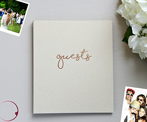 Photo Guest Book, Softcover Flat-Lay Kraft Cardstock, Small 8.5''x7'', 65 Kraft Beige Sheets (130 pgs) Rustic Wedding Guest Book Beach Wedding Guest Book Instax Guest Book Quinceanera Rose Gold (Kraft) by Modern Notebook