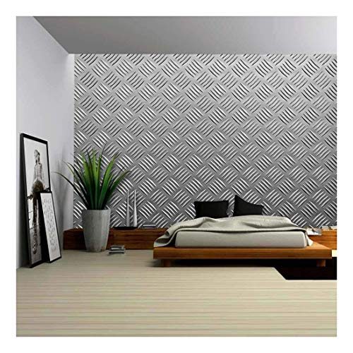 wall26 - Background of Metal with Repetitive Patten - Removable Wall Mural | Self-Adhesive Large Wallpaper - 66x96 inches