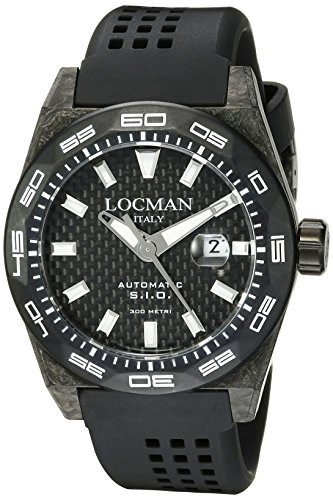 Locman-Italy-Mens-0216V5-CBCBNKWS2K-Stealth-300-Metri-Analog-Display-Automatic-Self-Wind-Black-Watch