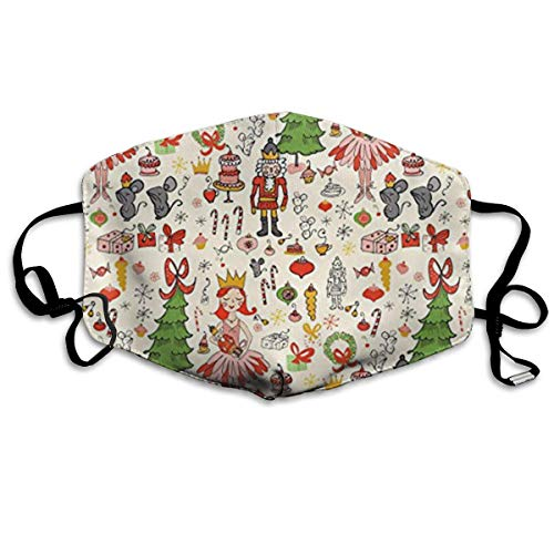 (GHDfgFD Holiday Fabric Sweet Dreams Unisex Anti-dust Solid Cotton Earloop Face Mouth Mask Muffle)