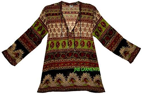 FOI Indian Vintage Cotton Top Hippie Women Ehs Blusa Dress Ethnic Blouse - Hippie Vintage Tunic