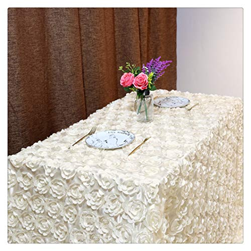 QueenDream Wedding Tablecloth Carpet Ivory 50