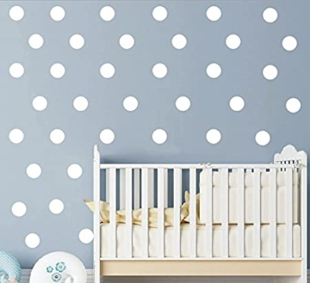 """White 2/"""" polka dot 80 pieces//set Vinyl Wall Decal Home Decoration Removable Home Decor Stickers Art Kids Nursery Bedroom Wall Sticckers/&Murals,Easy direct Peel"""