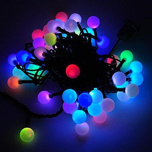 Color Changing Christmas Lights.Dodolightness 50 Rgb Ball Led Color Changing With 16 Feet Linkable Ball String Christmas Xmas Lights Halloween Party Lights