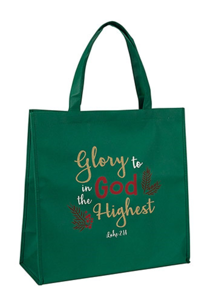 AT001 Set of 6 Glory To God In The Highest Tote Bag.