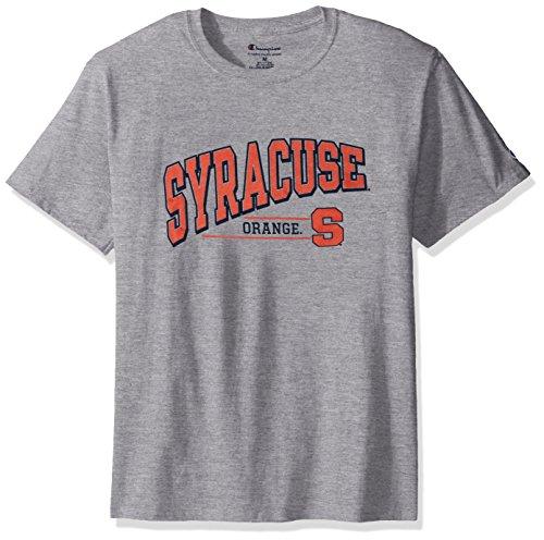 NCAA Syracuse Orange Men's Champ Short Sleeve T-Shirt 4, Medium, Oxford Heather
