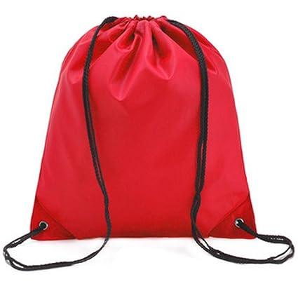 Lubier Mochila Cuerdas Bolsa Saco Cuerdas Bolsa de natación Color sólido Impermeable Fácil de Llevar Deportes