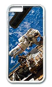 MOKSHOP Adorable astronaut in space Hard Case Protective Shell Cell Phone Cover For Apple Iphone 6 Plus (5.5 Inch) - PC Transparent