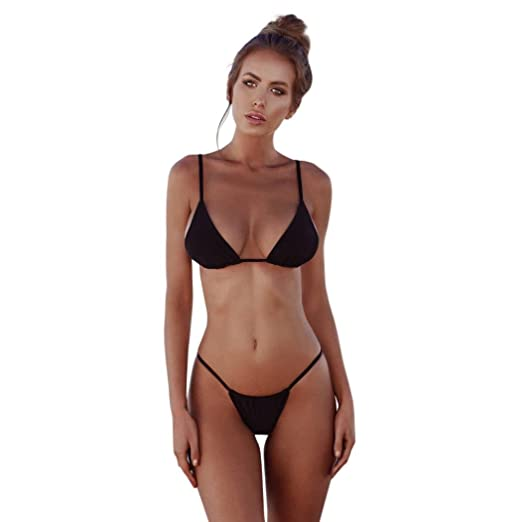 ff9f4463ff Amazon.com: Amanod 2018 popular hot sale Womens Padded Push-up Bikini Set Swimsuit  Bathing Suit Swimwear Beachwear: Clothing
