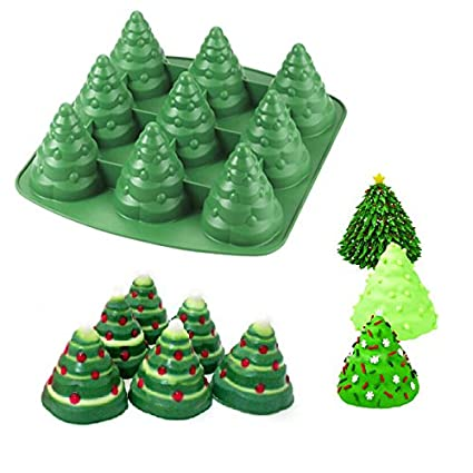 3D Christmas Tree Cake Mould Silicone Cookie Chocolate Baking Mold - Amazon.com: 3D Christmas Tree Cake Mould Silicone Cookie Chocolate