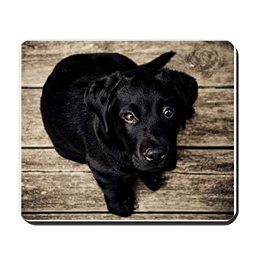 CafePress - Black Lab Puppy - Non-Slip Rubber Mousepad, Gaming Mouse Pad