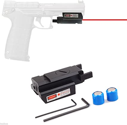 Táctica láser rojo haz punto vista alcance carril Picatinny Por Rifle pistola