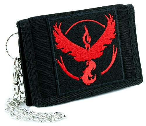 Team Wallet (Team Valor Red Pokemon Go Tri-fold Wallet with Chain Alternative Clothing Gotta Catch em All)