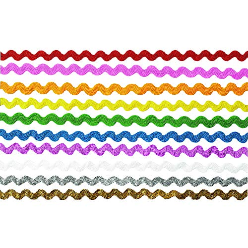 - Colorations RIKRAK Colorations Rick Rack Ribbon - 150' (Pack of 10)