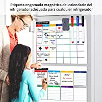 Pizarra magnética para nevera,planificador mensual, Calendario ...