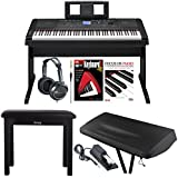 Yamaha DGX-660 88 Weighted Keys Digital Piano Bundle with Knox Bench, Dust Cover,Headphones, Sustain Pedal, Piano (Book/CD) & DVD ...