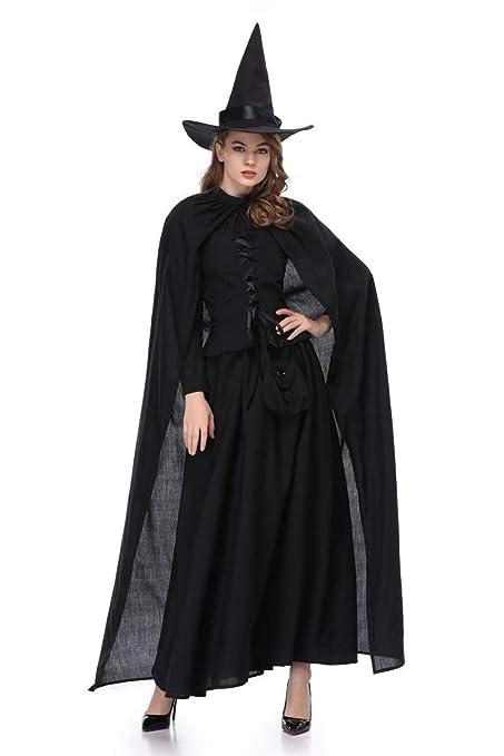 Erfhj Mujer Adulta Bruja de Halloween Traje gótico Vestido ...